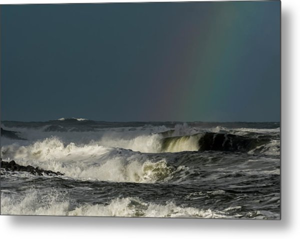 Stormlight Seaside Cove Metal Print
