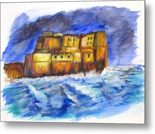 Stormy Castle Dell'ovo, Napoli Metal Print