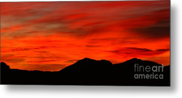 Stormy Colorado Sunrise Metal Print by Max Allen