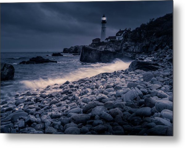 Metal Print featuring the photograph Stormy Lighthouse 2 by Doug Camara