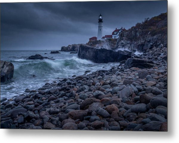 Metal Print featuring the photograph Stormy Lighthouse by Doug Camara