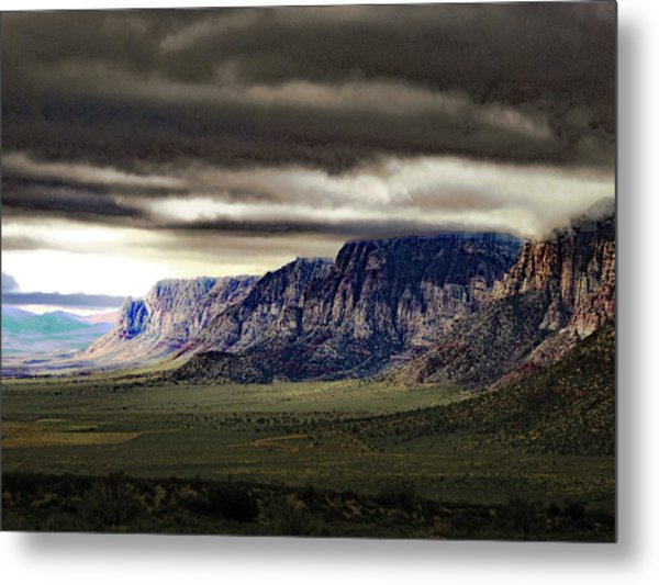 Stormy Morning In Red Rock Canyon Metal Print