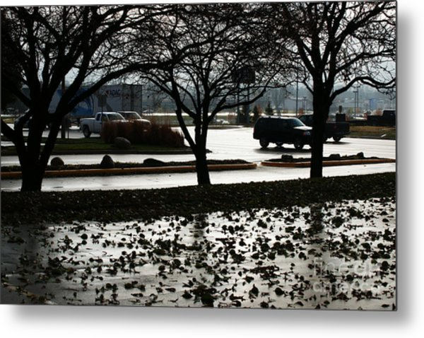 Stormy Reflection Metal Print