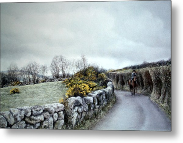 Stormy Ride On The Moor Metal Print