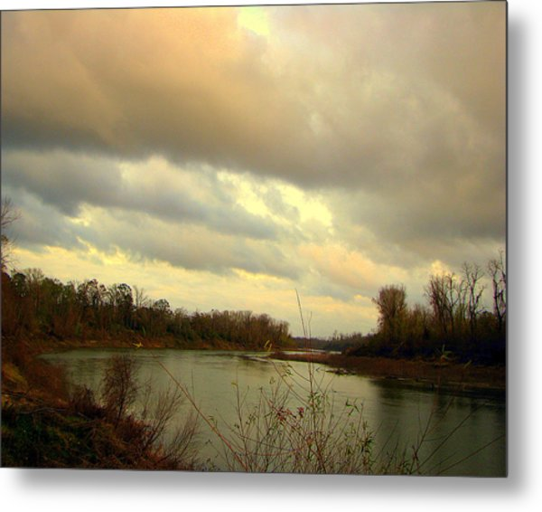 Stormy River Metal Print by Dottie Dees