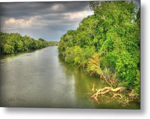 Stormy Skies Over The Coosa River Metal Print