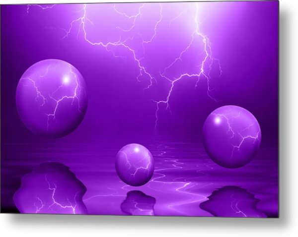 Stormy Skies - Purple Metal Print