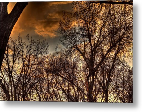 Stormy Sunset 14151 Metal Print