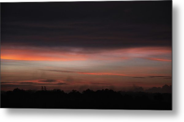Metal Print featuring the photograph Stormy Sunset by Mark Dodd