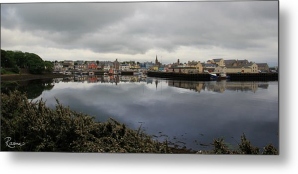Metal Print featuring the photograph Stornoway Panorama by Rasma Bertz