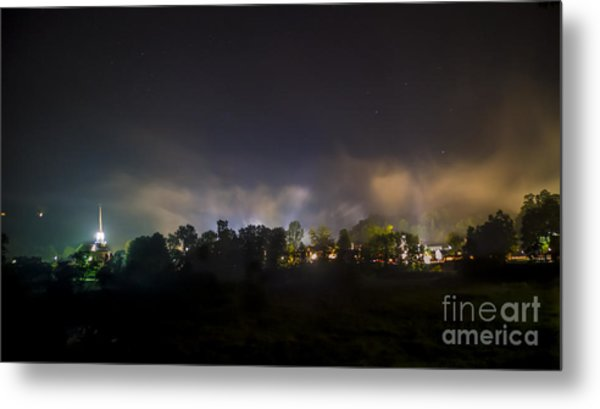 Stowe Vermont After Dark. Metal Print