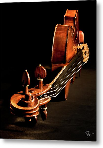 Stradivarius From The Top Metal Print