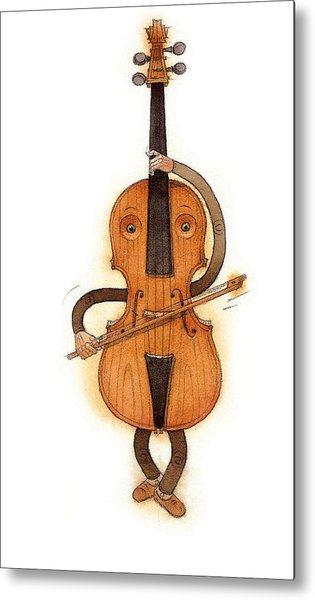 Stradivarius Violin Metal Print by Kestutis Kasparavicius