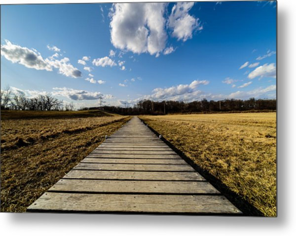 Straight And Narrow Metal Print