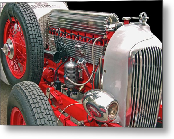Straight Eight Metal Print by Bill Dutting