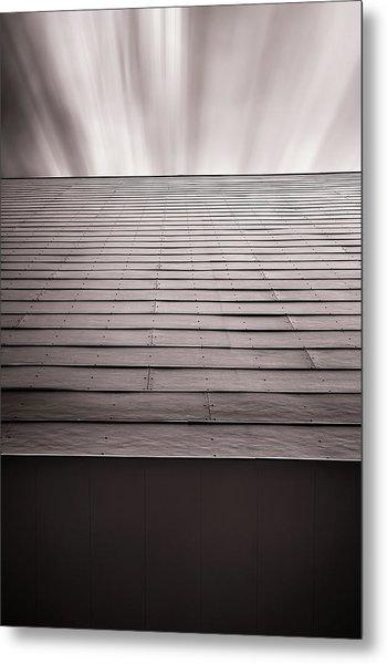 Straight Line Above Metal Print