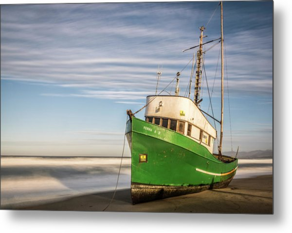 Stranded On The Beach Metal Print