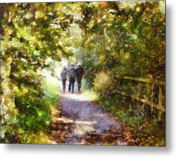 Strangers On A Footpath / In To The Light Metal Print