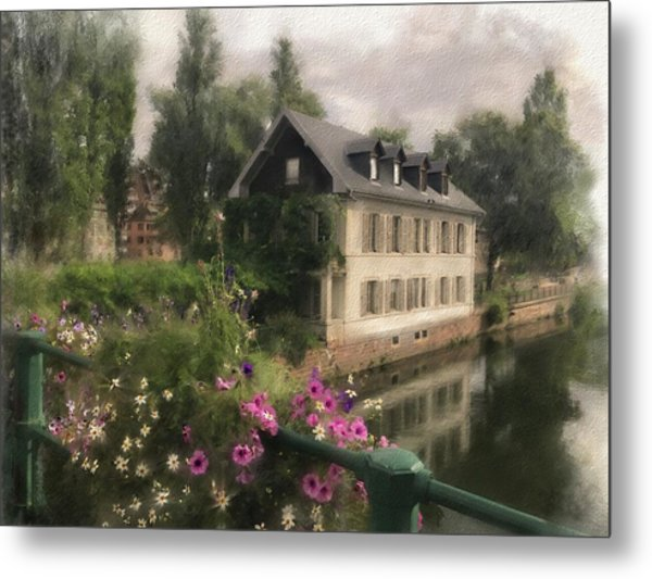 Strasbourg Bridge Metal Print
