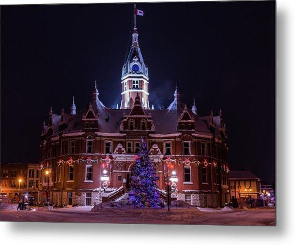 Stratford City Hall Christmas Metal Print