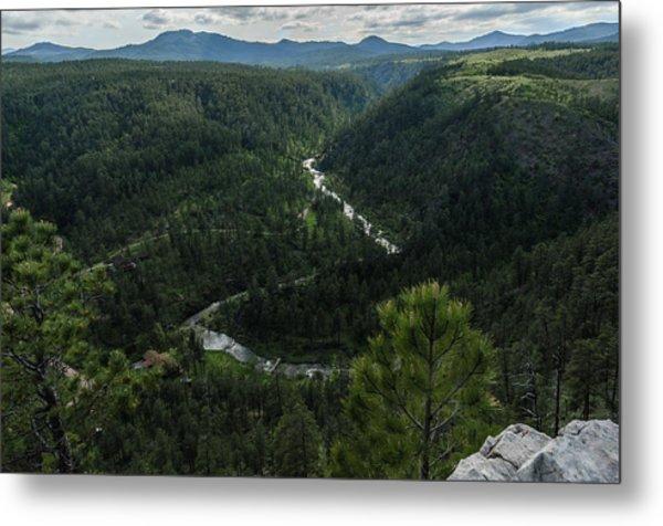 Stratobowl Overlook On Spring Creek Metal Print