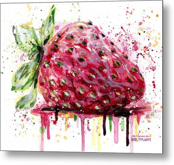 Strawberry 2 Metal Print