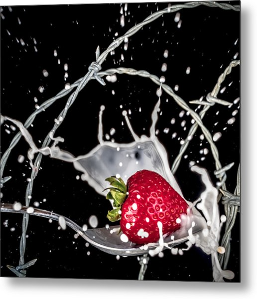 Strawberry Extreme Sports Metal Print