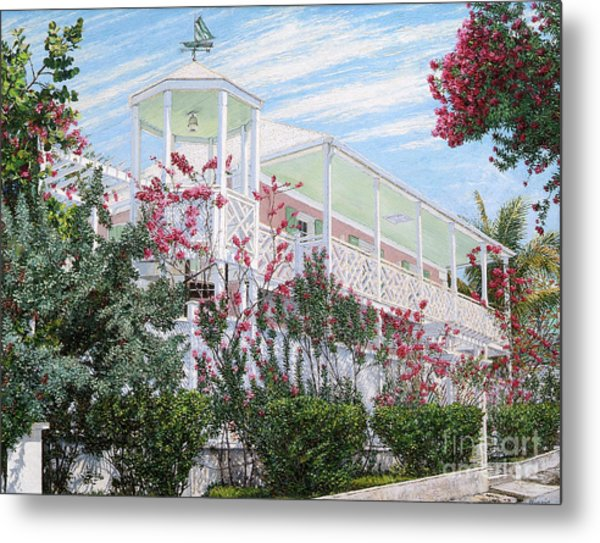Strawberry House Metal Print