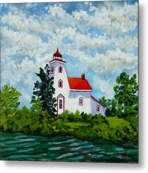 Strawberry Island Lighthouse, Manitoulin Island Metal Print