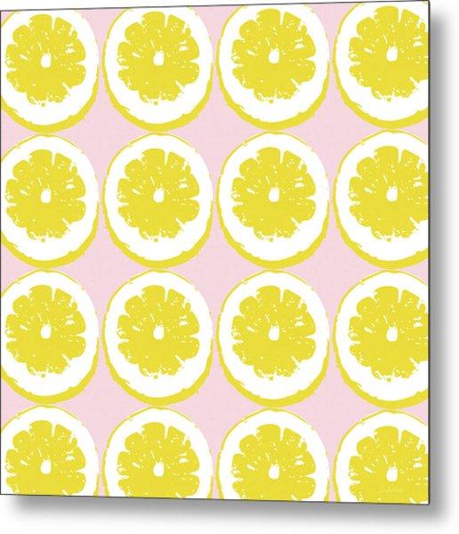 Strawberry Lemonade- Art By Linda Woods Metal Print