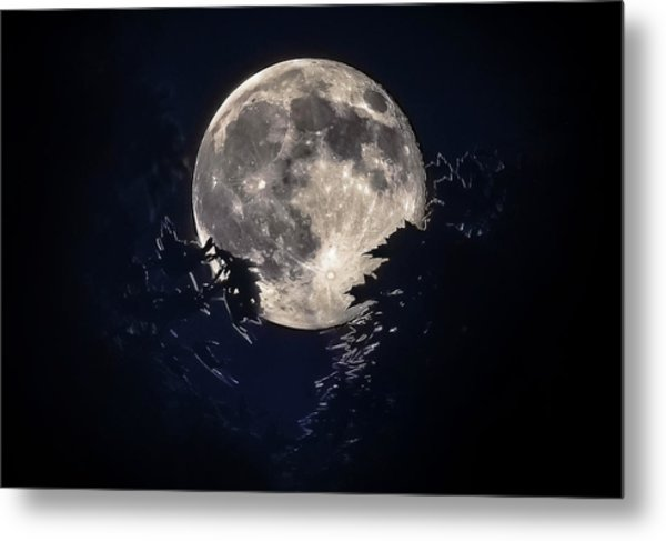 Strawberry Moon Metal Print