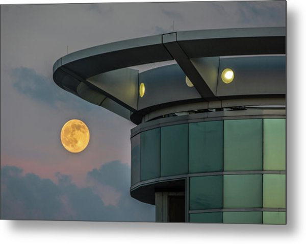 Strawberry Moon - Radisson Plaza Hotel Metal Print