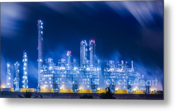 Stream Power Plant Metal Print
