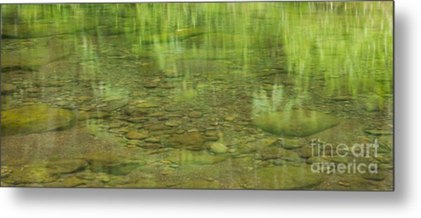 Stream Reflections Metal Print