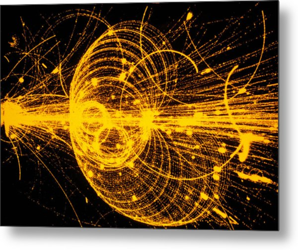 Streamer Chamber Photo Of Particle Tracks Metal Print by Cern