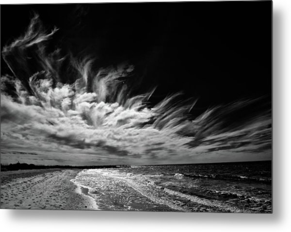 Streaming Clouds Metal Print