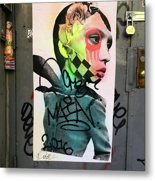 Street Art On West Broadway. #tribeca Metal Print by Gina Callaghan