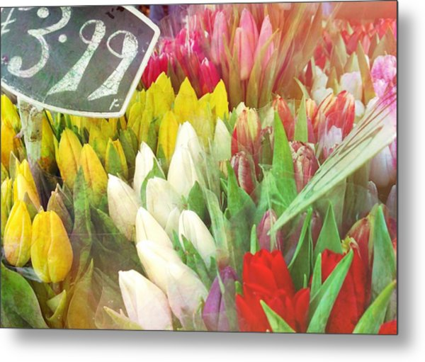 Street Bouquets Metal Print by JAMART Photography