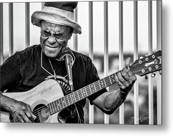 Metal Print featuring the photograph Street Guitarist by David A Lane