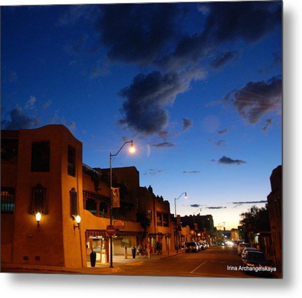 Street In Santa Fe Metal Print