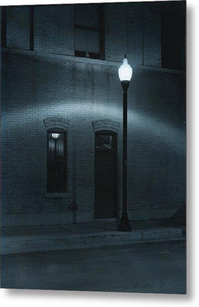 Street Lamp Arc Metal Print by Jim Furrer