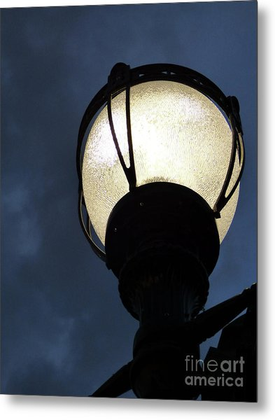 Street Lamp At Night Metal Print