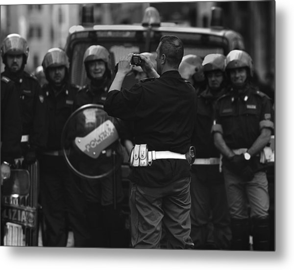 Street  Photographer Metal Print by Fulvio Pellegrini