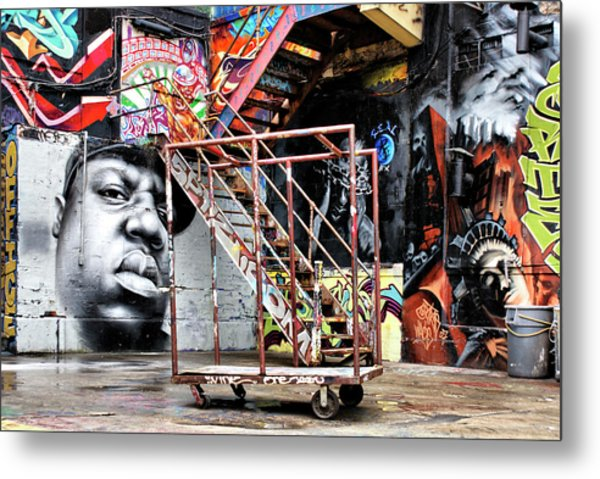Street Portraiture Metal Print