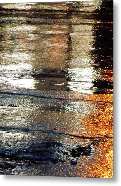 Street Reflections 2 Metal Print
