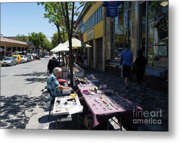 Street Vendors On Telegraph Avenue At University Of California Berkeley Dsc6236 Metal Print