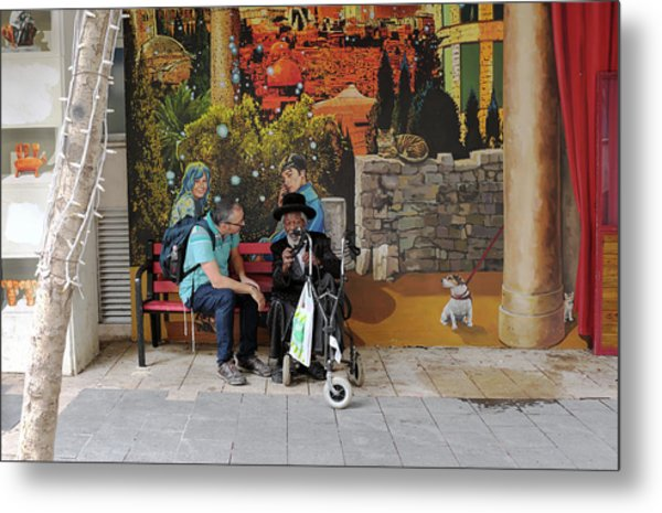 Metal Print featuring the photograph Street View In Jerusalem by Dubi Roman