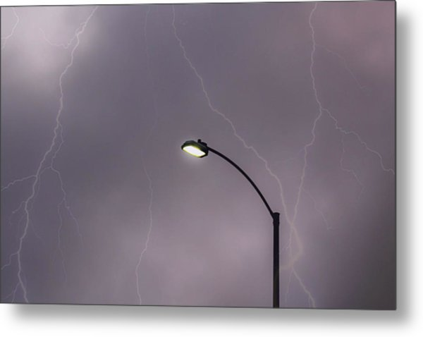Metal Print featuring the photograph Streetlight by Alison Frank