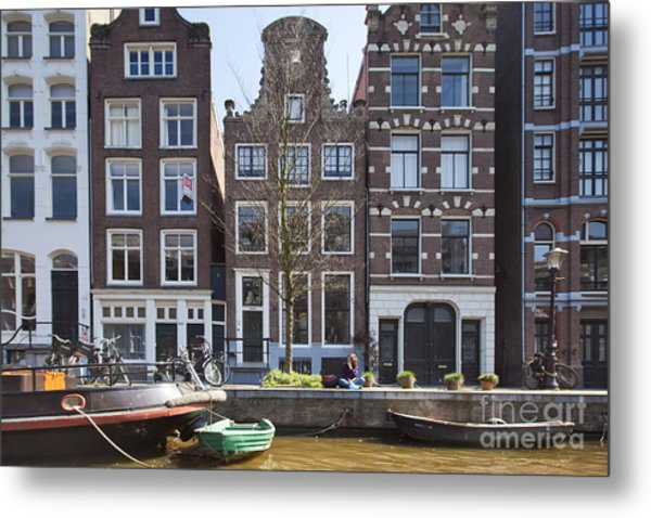 Streets And Channels Of Amsterdam Metal Print by Andre Goncalves