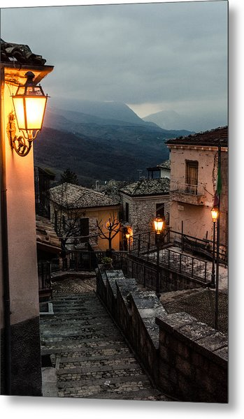 Streets Of Italy - Caramanico Metal Print